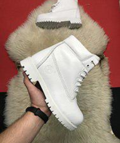 Timberland Custom 6-Inch Premium Waterproof White Boots Fur (31181)