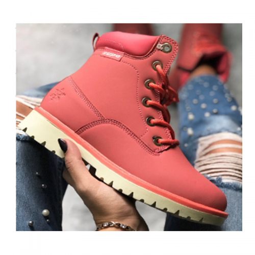 Timberland 6-Inch Red Boots Biege Sole