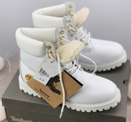 Timberland Custom 6-Inch Premium White Boots (31181-1)