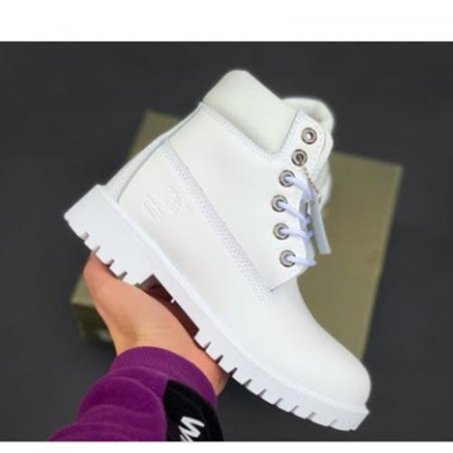 Timberland 6-Inch Classic Mono White Boots