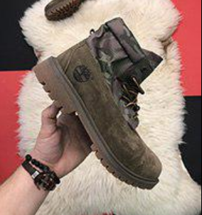 Timberland Authentics Khaki Boots (A113G)