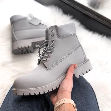 Timberland Custom 6-Inch Premium Gray Boots (31181-2)