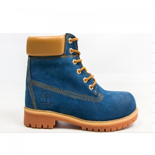 Timberland 6-Inch Blue Boots Orange Pad and Sole