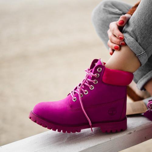 Timberland 6-Inch Purple Boots Magenta Pad Fur