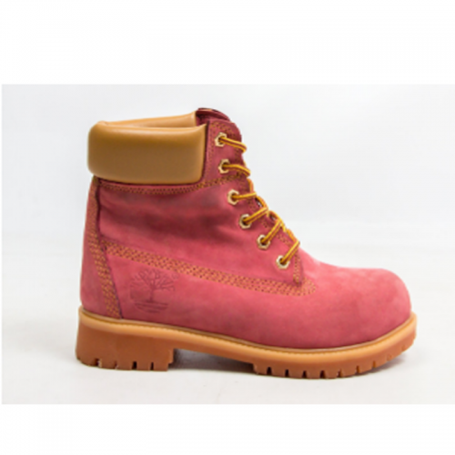 Timberland 6-Inch Pink Boots Orange Pad and Sole