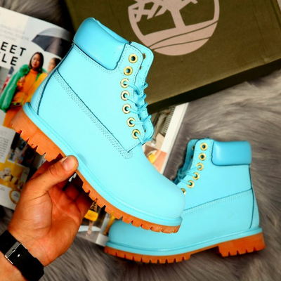 Timberland 6-Inch Light Blue Boots