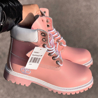 Timberland 6-Inch Pink and Silver Boots