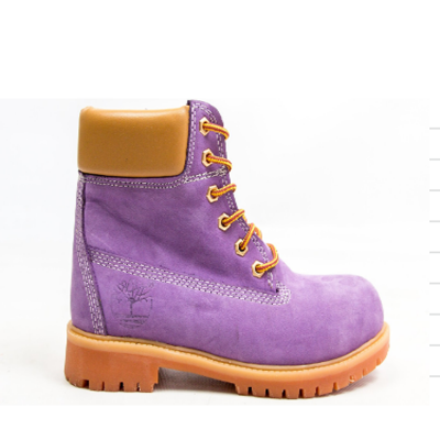 Timberland 6-Inch Violet Boots Orange Pad and Sole
