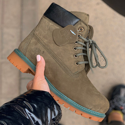 Timberland 6-Inch Olive Fur Boots