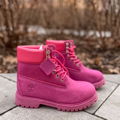Timberland 6-Inch Purple Fur Boots