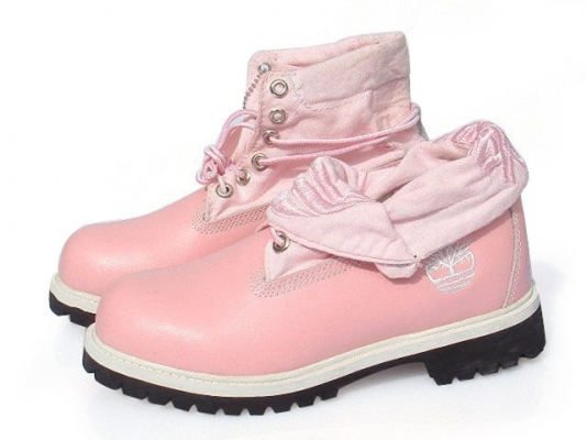 Timberland Roll-Top Pink Boots (S60191)