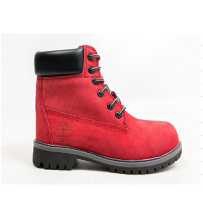 Timberland 6-Inch Red Boots Black Pad and Sole