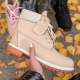 Timberland 6-Inch Nude Biege Fur Boots
