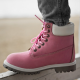 Timberland 6-Inch Pink Termo Boots White Pad and Cant