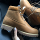 Timberland 6-Inch Orange Boots Yellow Logo