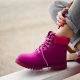 Timberland 6-Inch Purple Boots Magenta Pad Fur